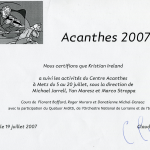 Acanthes 2007
